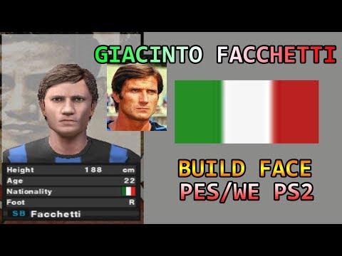 Giacinto Facchetti Build Face PES PS2 - Italia