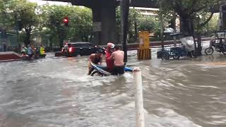 Flooded areas in Metro Manila on August 11, 2018