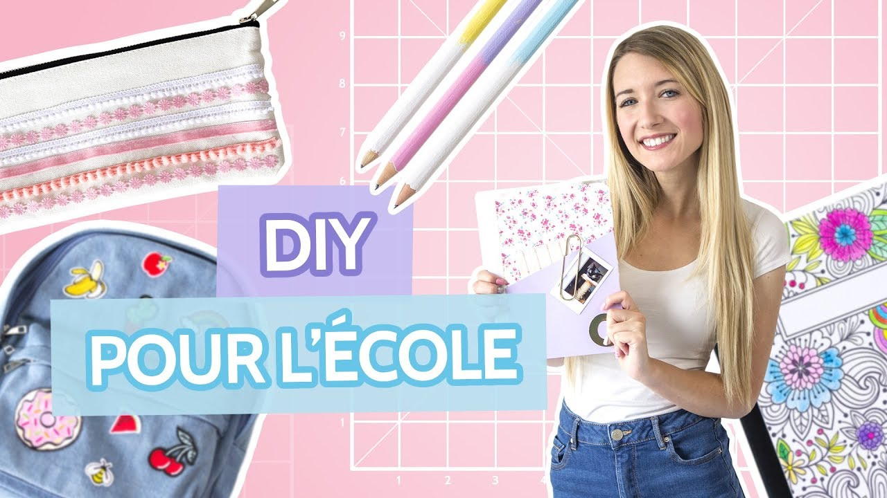 diy fournitures scolaires back to school 2017 youtube. Black Bedroom Furniture Sets. Home Design Ideas