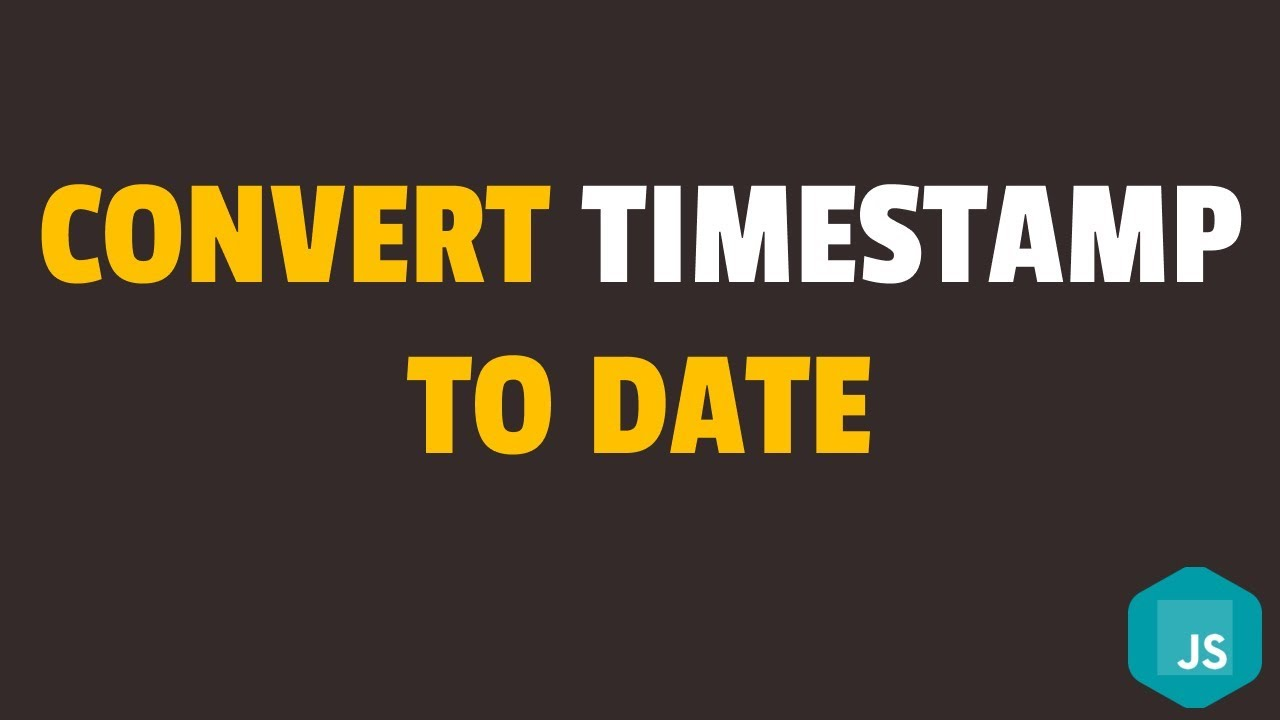 How to Convert Timestamp to Date Format in Javascript