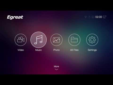 Egreat A5 review : UI, boot, VidOn XBMC