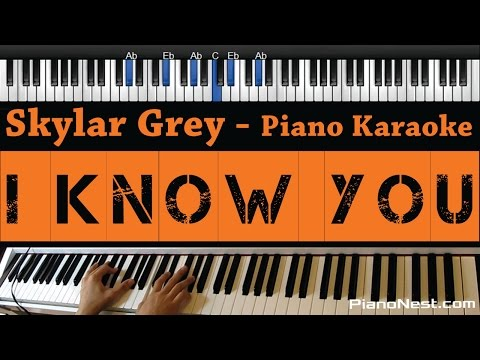 Skylar Grey - I Know You (Fifty Shades Of Grey) Piano Karaoke / Sing Along / Cover with Lyrics