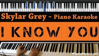 Skylar Grey - I Know You (Fifty Shades Of Grey) Piano Karaoke / Sing Along / Cover with Lyrics