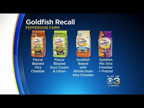 Pepperidge Farm Recalling 4 Varieties Of Goldfish Crackers Due To Possible Presence Of Salmonella