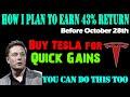 Buy Tesla Now For Quick Gains In October - Tesla Stock Detailed Analysis