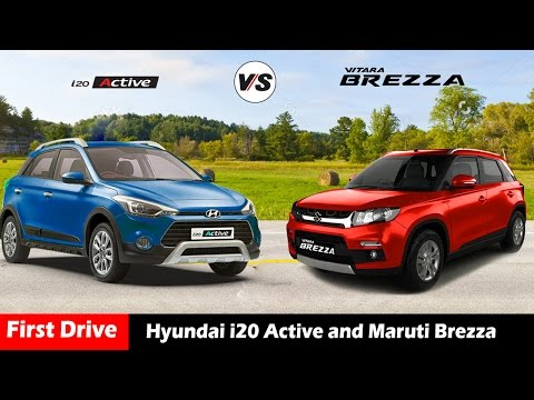 Compare Hyundai i20 Active VS Maruti Vitara Brezza,hatchback india 2016|First Drive|