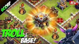 TH11 Trophy/Troll Base 2017| CoC Town hall 11 Base| Anti Lavaloon/Dragon + Replays - Clash Of Clans