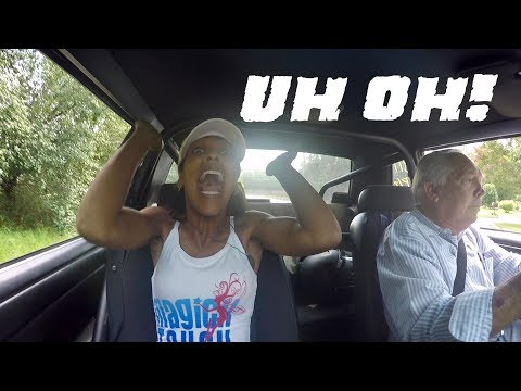 1ST TIME GOING FAST! 65 YEAR OLD MAN TAKES HIS WIFE FOR A SURPRISING  RIDE IN HIS 695 HP MUSTANG!