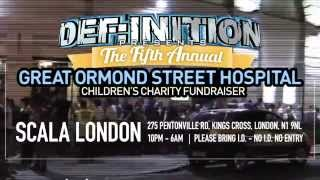 Definition presents The GOSH Charity Fundraiser 2015 Advert