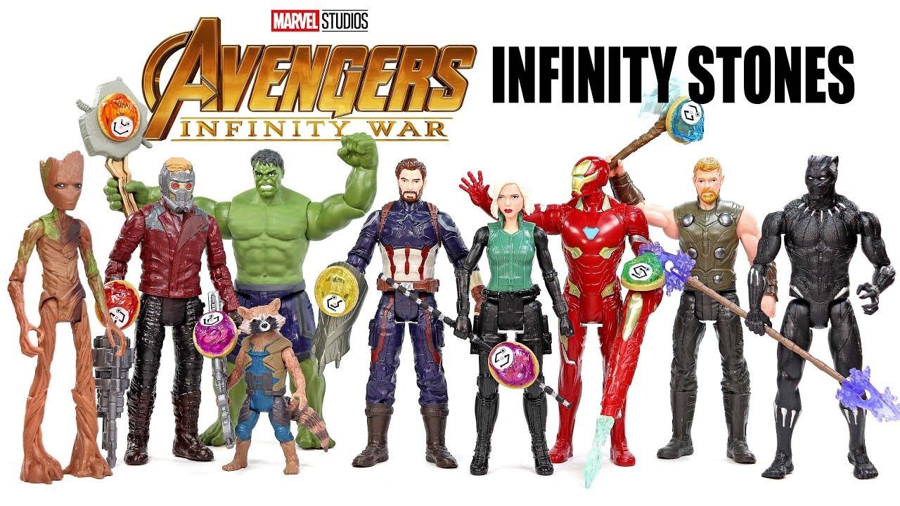 Rocket Raccoon Groot Hulk Action Figures W//Infinity Stone Avengers Infinity War