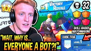 Tfue CREATES A NEW Fortnite Account & Is SHOCKED After Noticing Epic ADDED Skill Based Matchmaking!