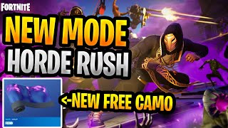 Horde Rush New Fortnite Mode With New Free Weapon Skin PvE Event Full Game Victory