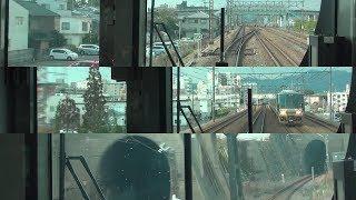 【前面展望・225系新快速】 JR西の複々線の起点・草津→京都 19.2.23