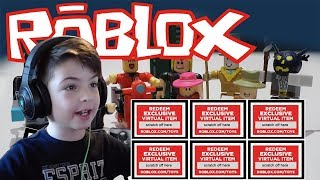 UNLOCK CODES FROM ROBLOX FIGURINES