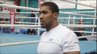 ANTHONY JOSHUA (FULL & COMPLETE) TRAINING SESSION AHEAD OF HEAVYWEIGHT WORLD TITLE UNIFICATION CLASH