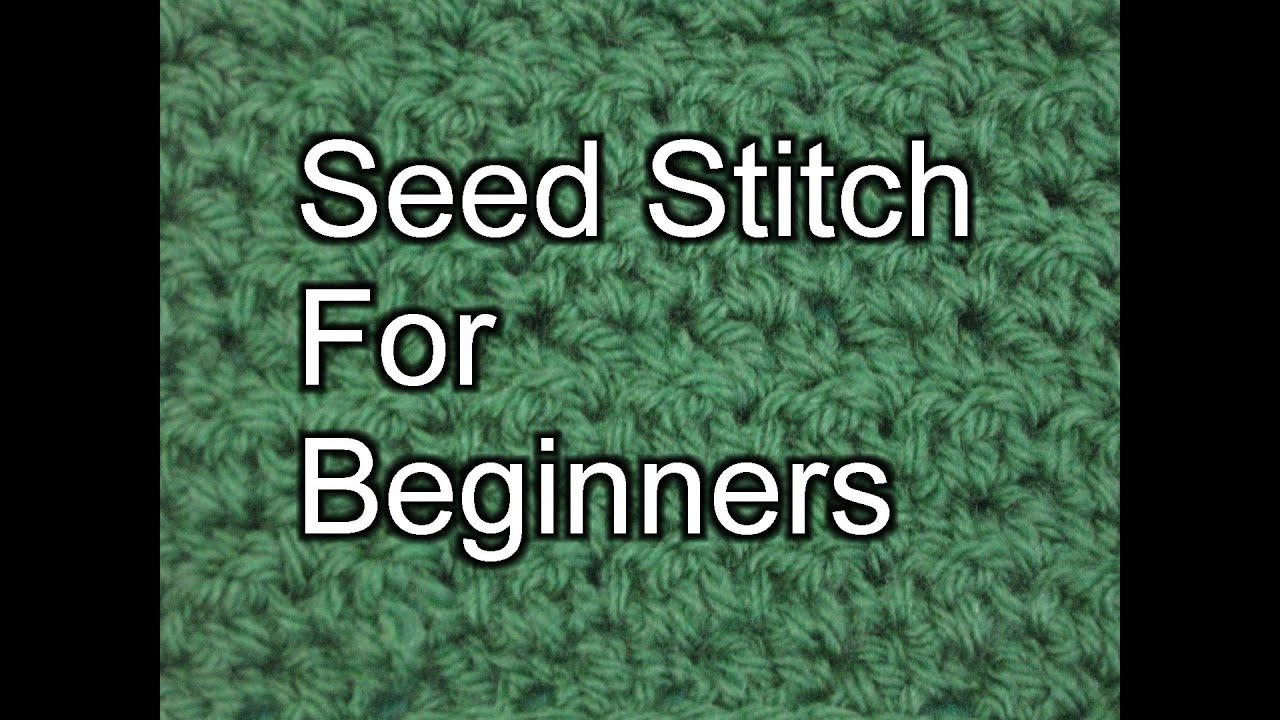 Crochet Seed Stitch - Slow Motion Crochet - YouTube