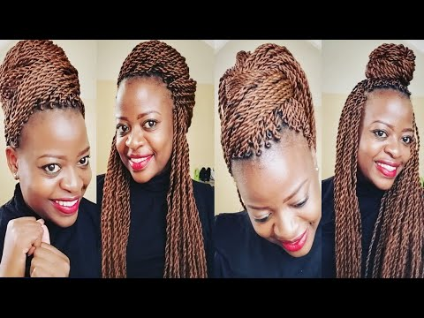 How To Style Your Long Abuja Twist Braids Any Braids Quick And Easy Styles Kenyan Youtuber Youtube