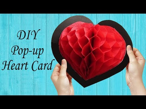 DIY Love Heart Pop-up Card - Easy Crafts for the Valentine Day