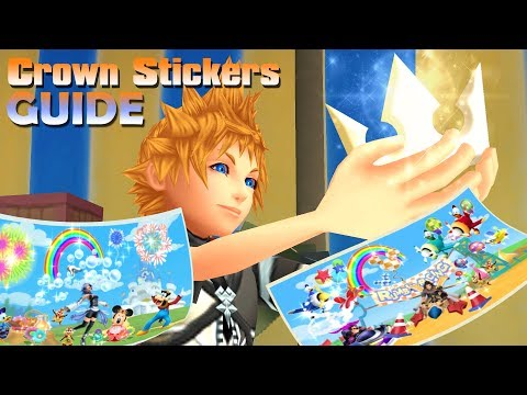 Guide to the Crown Stickers and their Locations - KINGDOM HEARTS Birth by Sleep FINAL MIX