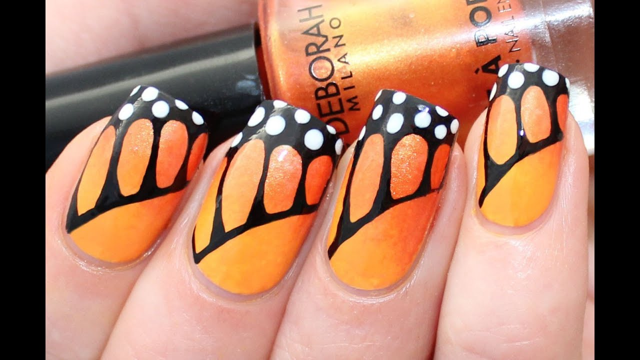 Monarch butterfly nail art tutorial for deborah milano beauty monarch butterfly nail art tutorial for deborah milano beauty club youtube prinsesfo Image collections