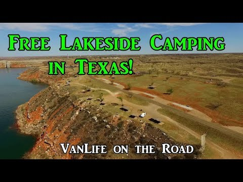 Free Lakeside Camping in Texas! - VanLife on the Road