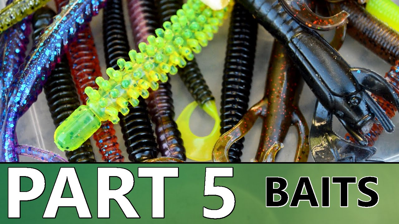 Beginner's Guide to BASS FISHING - Part 5 - Baits and Tackle - YouTube