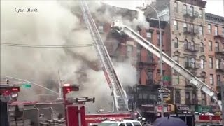 Dozens hurt in NYC building collapse