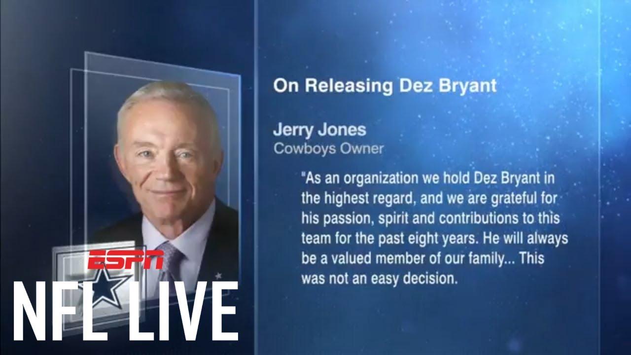 Dallas Cowboys Release Dez Bryant Nfl Live Espn