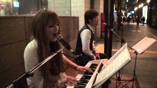 H24.04.27:西鉄福岡駅前での路上ライブ風景です。 HP:http://k-club.ec...