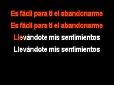 Angeles Azules ft Ximena Sariñana - Mis sentimientos (karaoke)