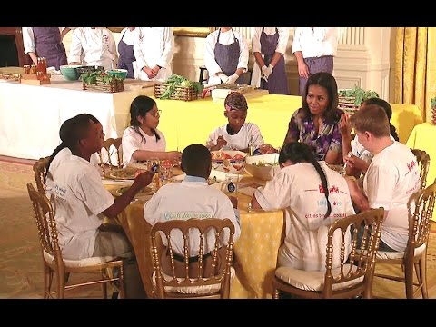 The First Lady Celebrates the White House Kitchen Garden Harvest with Let's Move! Students