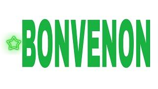 Bonvenon!/Welcome!