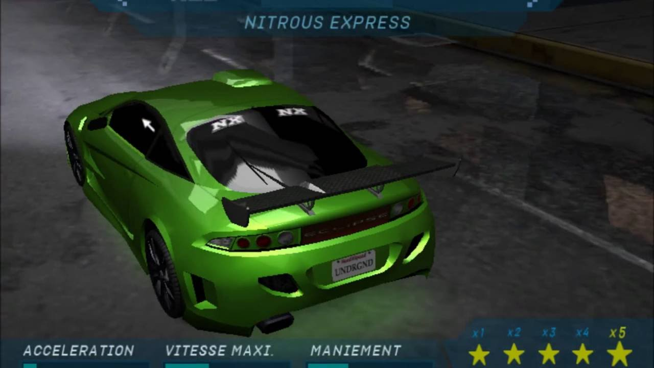 Nfs Underground 1 Cars Youtube
