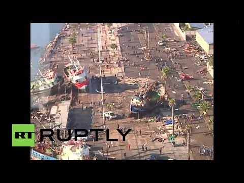 RAW: Drone footage shows destruction wrought by 8.3 quake in Chile