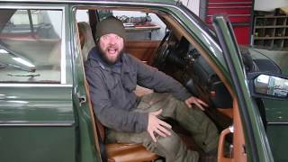 Boregard's Benz Chronicles: Did His Cheap Shoulder Harness Repair Work on His 240D?