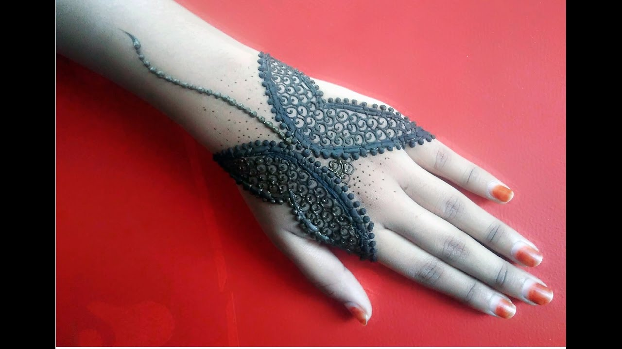 Mehndi Henna Butterfly : Butterfly mehndi design tattoo henna