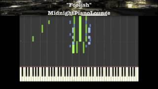 ♫ Ashanti - Foolish Piano Tutorial In F Minor ♫