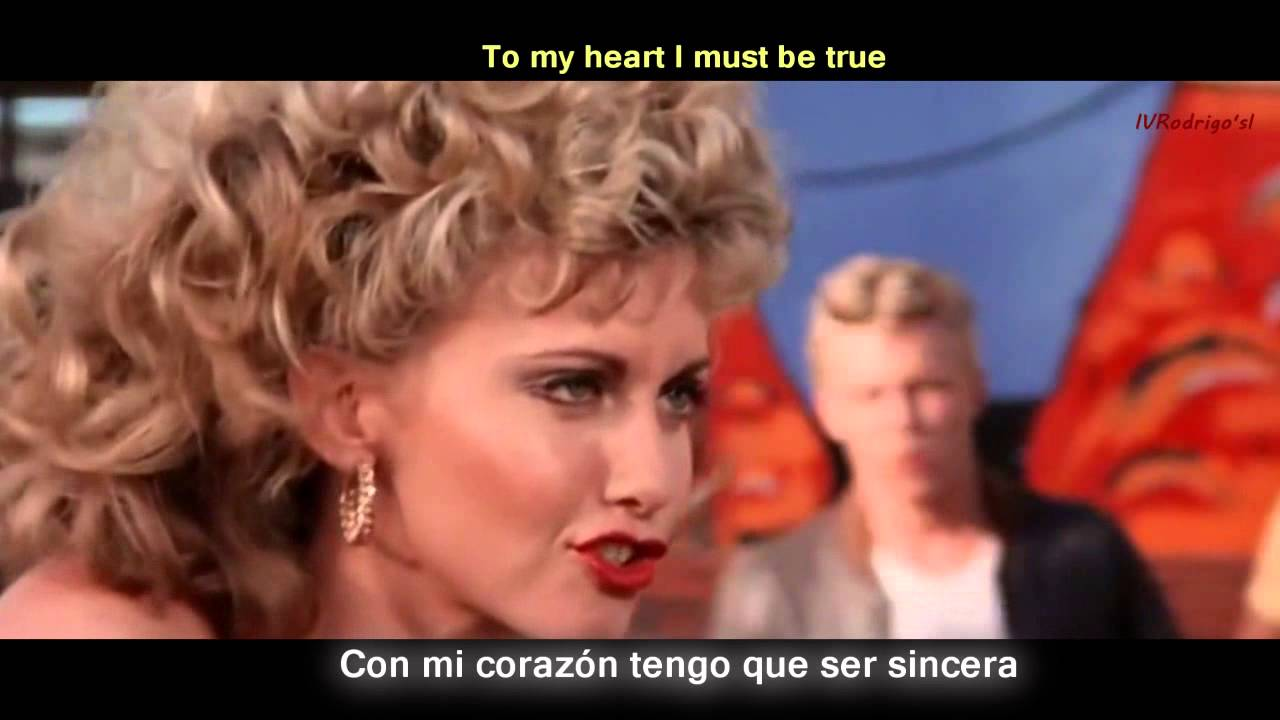 Grease You Re The One That I Want Lyrics Y Subtitulos En Español Youtube