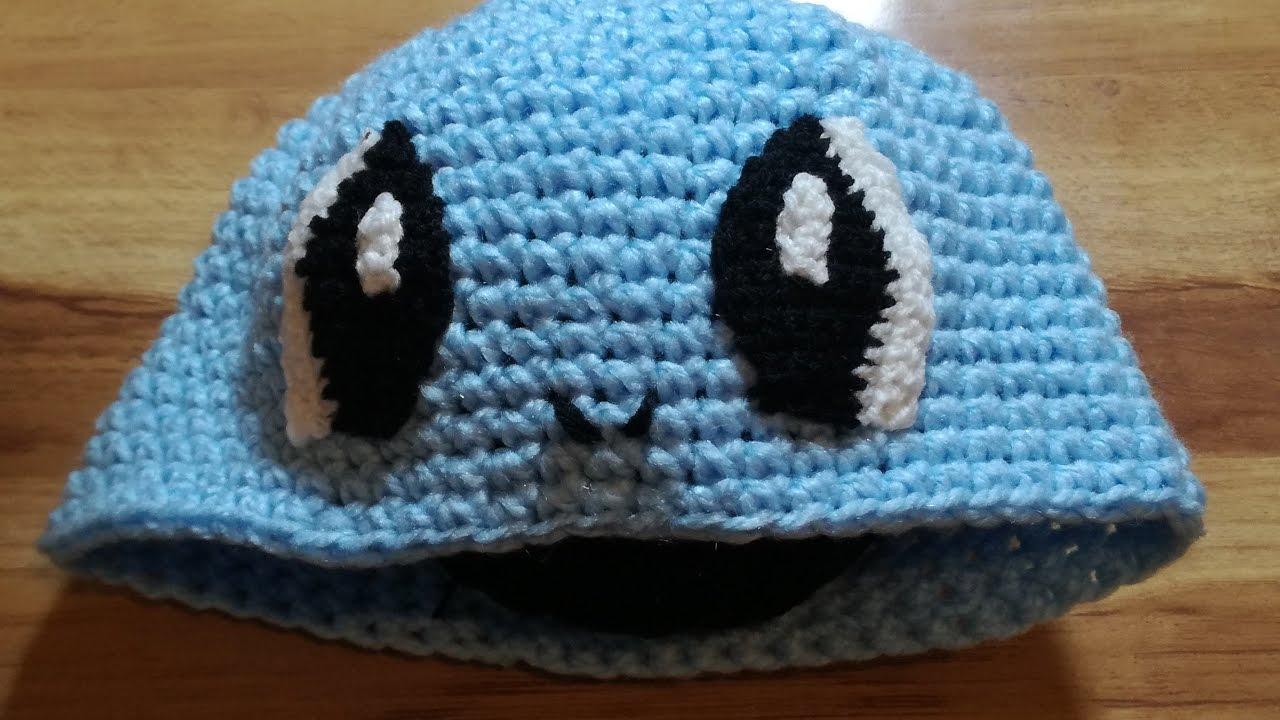 Gorro de Pokemon tejido a crochet |Squirtle! Facil - YouTube