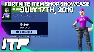 Fortnite Item Shop *NEW* CUSTOM BANNER SKINS!!! [July 17th, 2019] (Fortnite Battle Royale)