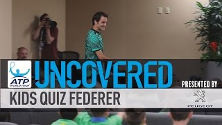 Federer Gets Grilled By Kids At Indian Wells Press Conference
