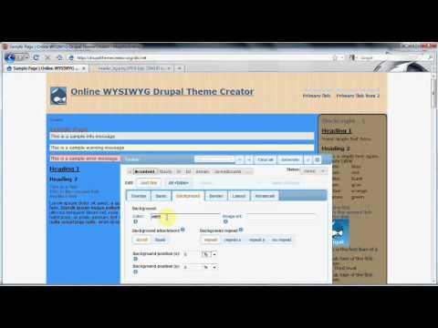 drupal templates editor