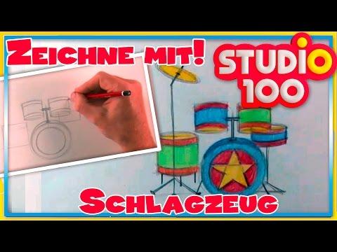 Schlagzeug  – Zeichnen lernen für Anfänger – Schritt für Schritt!