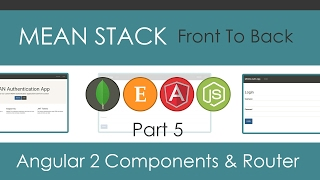 mean stack front to back part 5 angular 2 components routes