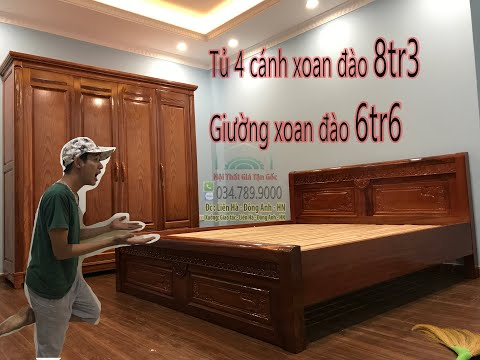 Giường -  Tủ gỗ Xoan Đào