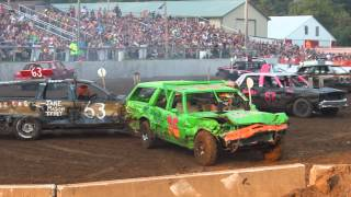2014 Demolition Derby in Ellsworth Wis