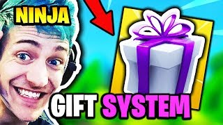 NINJA REACTS TO *NEW* GIFTING SYSTEM | Fortnite Daily Funny Moments Ep.138