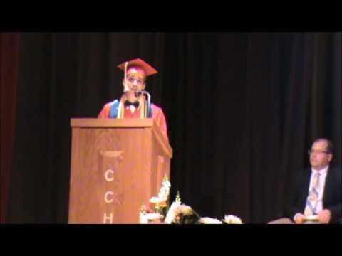 Salutatorian Sings Graduation Speech