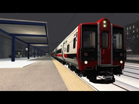 TS2015 HD: Metro-North Railroad New Haven Line Train 1335 Stamford to Grand Central in Snowy Weather