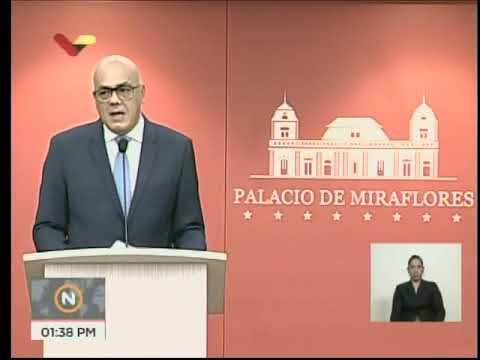 Jorge Rodríguez, rueda de prensa del 21 de agosto sobre reconversión monetaria